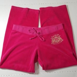 Juicy Couture Pink Logo Sweatpants